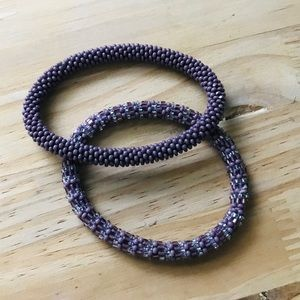 2- purple Lily and Laura bracelets